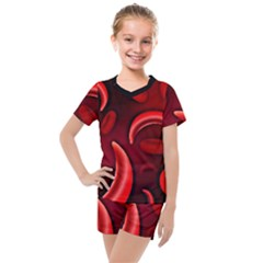 Cells All Over  Kids  Mesh Tee And Shorts Set