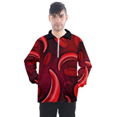 Cells All Over  Men s Half Zip Pullover by shawnstestimony