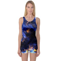Universe Exploded One Piece Boyleg Swimsuit by WensdaiAmbrose