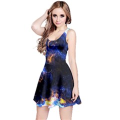 Universe Exploded Reversible Sleeveless Dress by WensdaiAmbrose