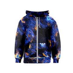 Universe Exploded Kids  Zipper Hoodie by WensdaiAmbrose