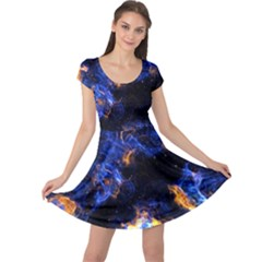 Universe Exploded Cap Sleeve Dress by WensdaiAmbrose