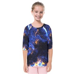 Universe Exploded Kids  Quarter Sleeve Raglan Tee by WensdaiAmbrose