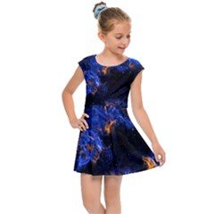 Universe Exploded Kids  Cap Sleeve Dress by WensdaiAmbrose