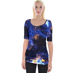 Universe Exploded Wide Neckline Tee by WensdaiAmbrose