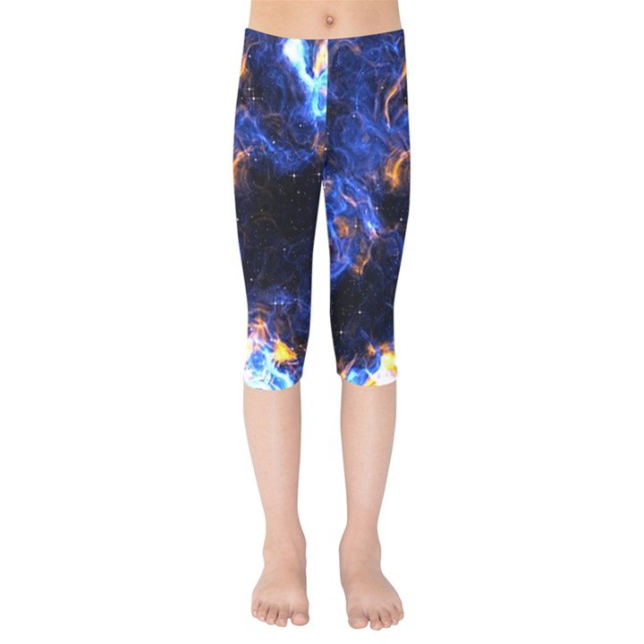 Universe Exploded Kids  Capri Leggings