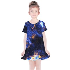 Universe Exploded Kids  Simple Cotton Dress by WensdaiAmbrose