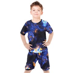 Universe Exploded Kids  Tee And Shorts Set by WensdaiAmbrose
