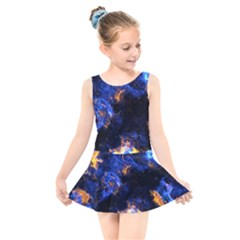 Universe Exploded Kids  Skater Dress Swimsuit by WensdaiAmbrose