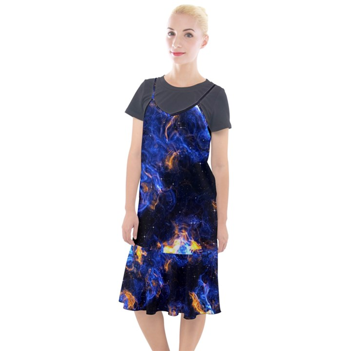 Universe Exploded Camis Fishtail Dress