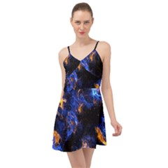 Universe Exploded Summer Time Chiffon Dress by WensdaiAmbrose