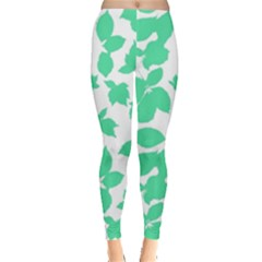 Botanical Motif Print Pattern Leggings