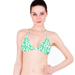 Botanical Motif Print Pattern Bikini Top by dflcprintsclothing