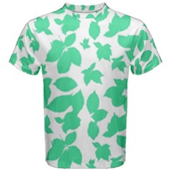 Botanical Motif Print Pattern Men s Cotton Tee