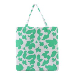 Botanical Motif Print Pattern Grocery Tote Bag