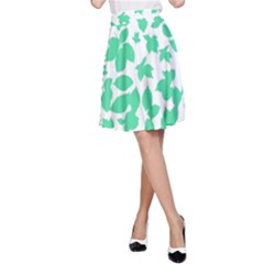 Botanical Motif Print Pattern A Line Skirt by dflcprintsclothing