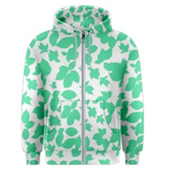 Botanical Motif Print Pattern Men s Zipper Hoodie