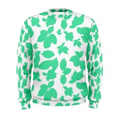 Botanical Motif Print Pattern Men s Sweatshirt