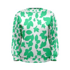 Botanical Motif Print Pattern Women s Sweatshirt