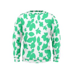 Botanical Motif Print Pattern Kids  Sweatshirt