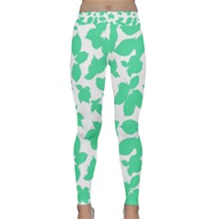 Botanical Motif Print Pattern Classic Yoga Leggings