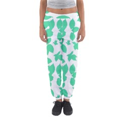 Botanical Motif Print Pattern Women s Jogger Sweatpants