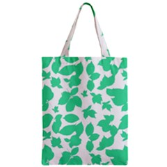 Botanical Motif Print Pattern Zipper Classic Tote Bag