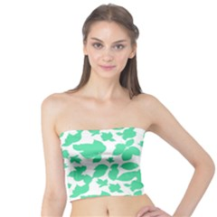 Botanical Motif Print Pattern Tube Top