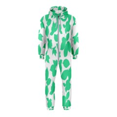 Botanical Motif Print Pattern Hooded Jumpsuit (Kids)