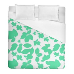 Botanical Motif Print Pattern Duvet Cover (Full/ Double Size)