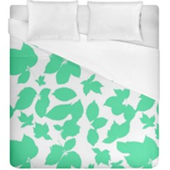 Botanical Motif Print Pattern Duvet Cover (King Size)