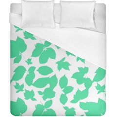 Botanical Motif Print Pattern Duvet Cover (California King Size)