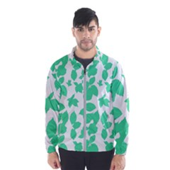 Botanical Motif Print Pattern Men s Windbreaker