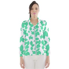 Botanical Motif Print Pattern Women s Windbreaker