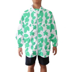 Botanical Motif Print Pattern Kids  Windbreaker
