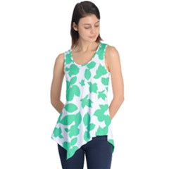 Botanical Motif Print Pattern Sleeveless Tunic
