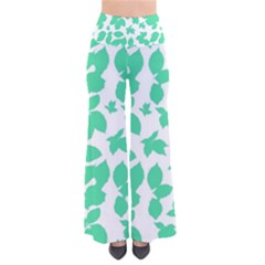 Botanical Motif Print Pattern So Vintage Palazzo Pants
