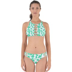 Botanical Motif Print Pattern Perfectly Cut Out Bikini Set