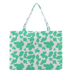 Botanical Motif Print Pattern Medium Tote Bag