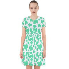 Botanical Motif Print Pattern Adorable in Chiffon Dress