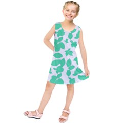 Botanical Motif Print Pattern Kids  Tunic Dress