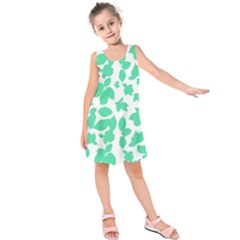 Botanical Motif Print Pattern Kids  Sleeveless Dress