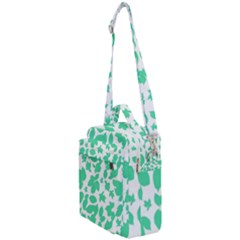 Botanical Motif Print Pattern Crossbody Day Bag