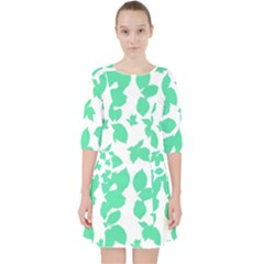 Botanical Motif Print Pattern Pocket Dress
