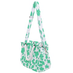 Botanical Motif Print Pattern Rope Handles Shoulder Strap Bag