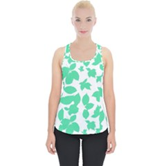 Botanical Motif Print Pattern Piece Up Tank Top