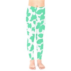 Botanical Motif Print Pattern Kids  Legging