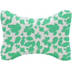 Botanical Motif Print Pattern Seat Head Rest Cushion