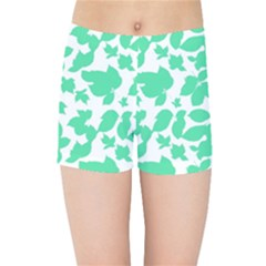 Botanical Motif Print Pattern Kids  Sports Shorts