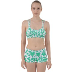 Botanical Motif Print Pattern Perfect Fit Gym Set